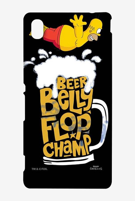 Simpsons Beer Belly Flop Champ Black Case for Sony Xperia M4