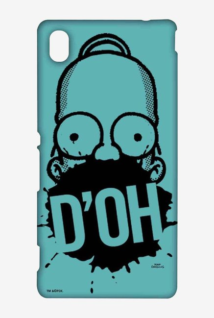 Simpsons D'OH Teal Case for Sony Xperia M4