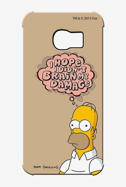 Simpsons Brain Humour Case for Samsung S6 Edge
