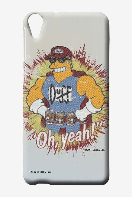 Simpsons Duff Oh Yeah Case for HTC Desire 820