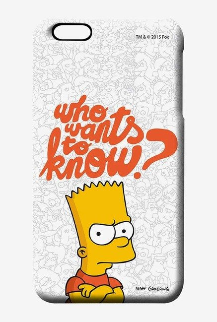Simpsons Who Wants To Know Case for iPhone 6 Plus