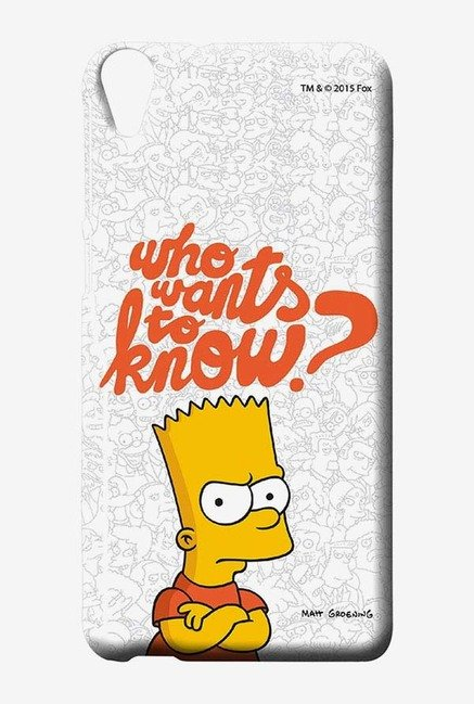 Simpsons Who Wants To Know Case for HTC Desire 820