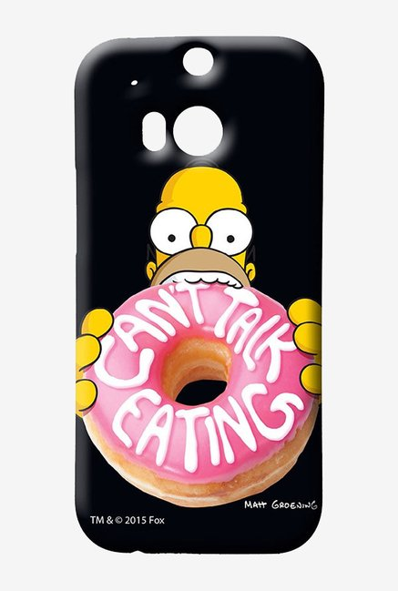 Simpsons Cant Talk Eating Black Case for HTC One M8