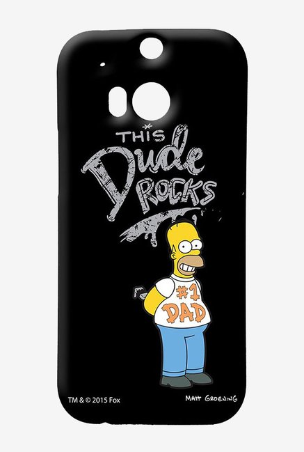 Simpsons This Dude Rocks Case for HTC One M8