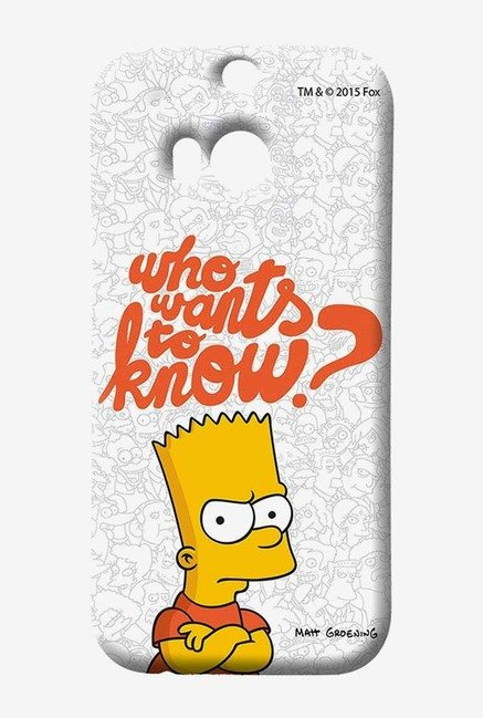 Simpsons Who Wants To Know Case for HTC One M8