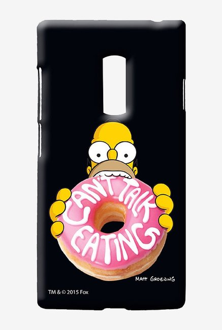 Simpsons Cant Talk Eating Black Case for Oneplus Two