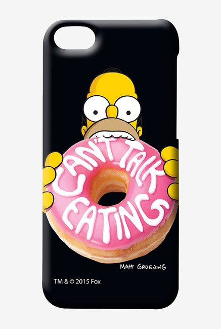Simpsons Cant Talk Eating Black Case for iPhone 5C