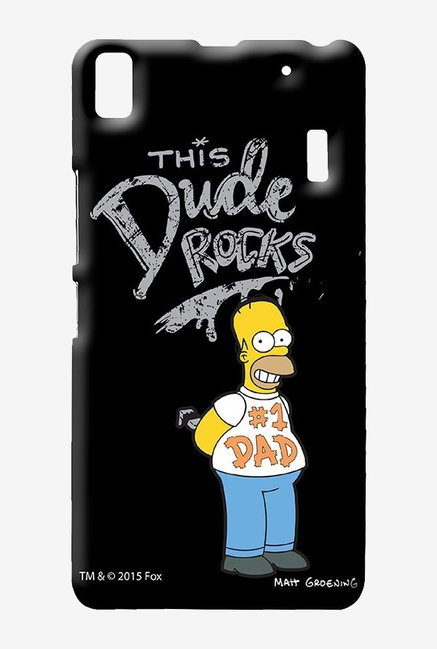 Simpsons This Dude Rocks Case for Lenovo A7000