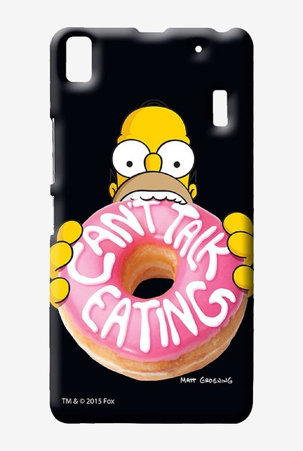 Simpsons Cant Talk Eating Black Case for Lenovo K3 Note