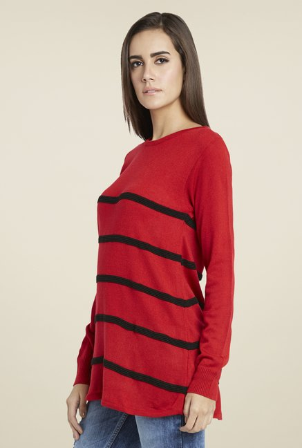 Globus Red Striped Pullover