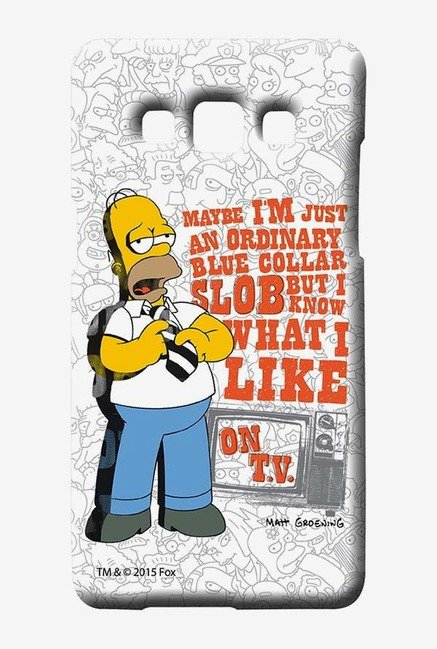 Simpsons Blue Collar Slob Case for Samsung Galaxy A7