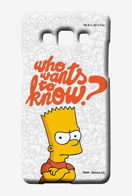 Simpsons Who Wants To Know Case for Samsung Galaxy A7
