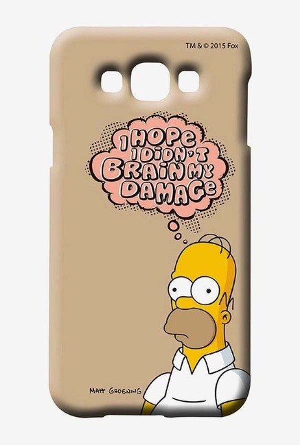 Simpsons Brain Humour Case for Samsung Galaxy E7