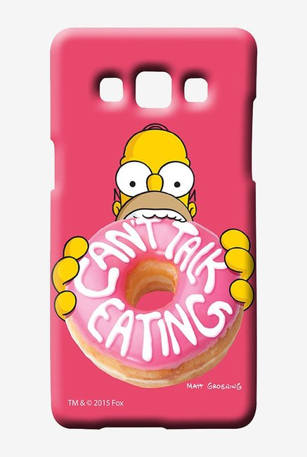 Simpsons Cant Talk Eating Pink Case for Samsung Galaxy A5