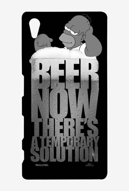 Simpsons The Beer Solution Black Case for Sony Xperia Z5