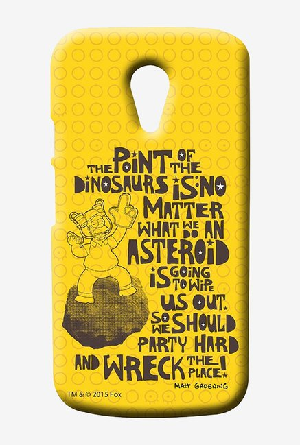 Simpsons The Dinosaur Theory Case for Moto G2