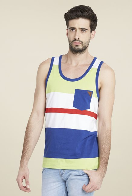 Globus Multicolor Striped Sleeveless Vest
