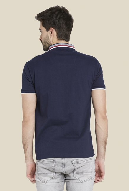 Globus Navy Chic Solid T Shirt