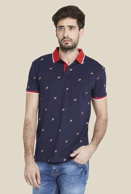 Globus Navy Chic Printed T Shirt