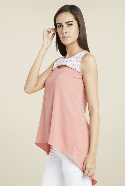 Globus Pink Lace Top