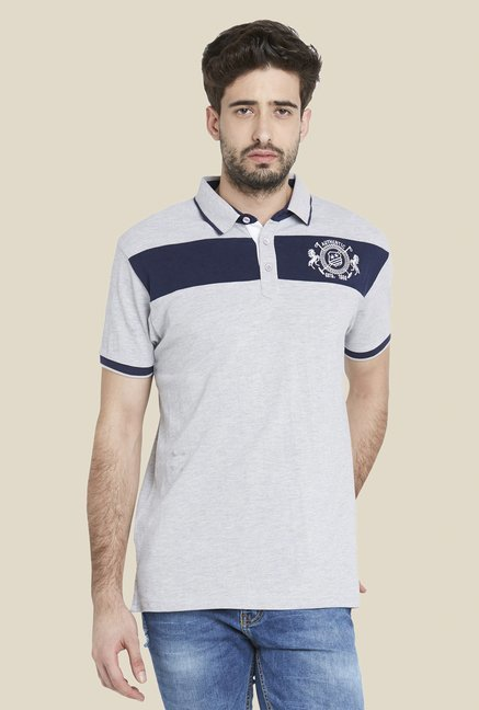 Globus Grey Cool Short Sleeve Polo T Shirt