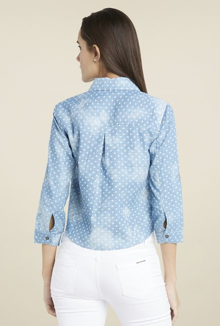 Globus Blue Heart Print Top