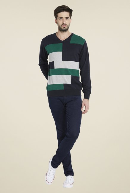 Globus Navy Solid Pullover