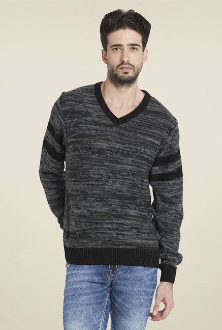 Globus Black Textured Pullover