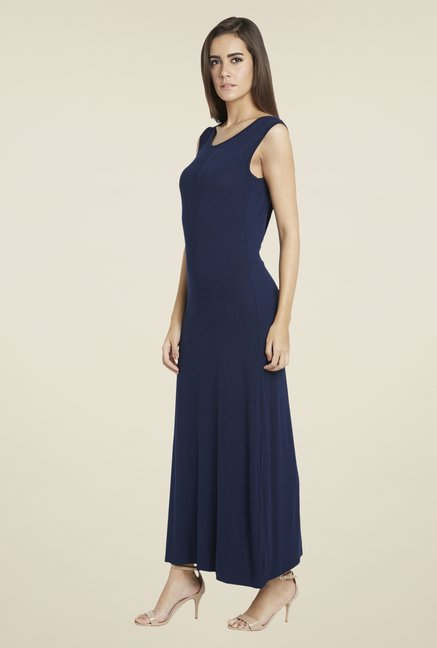 Globus Navy Solid Dress
