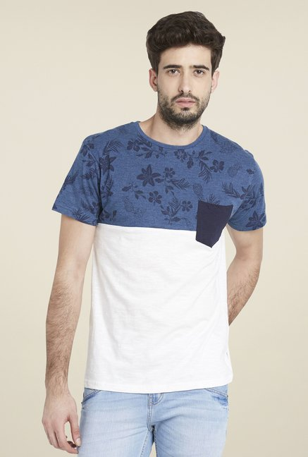 Globus Off White Printed T Shirt