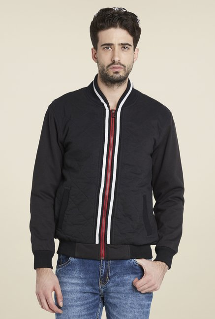 Globus Black Trendy Solid Jacket