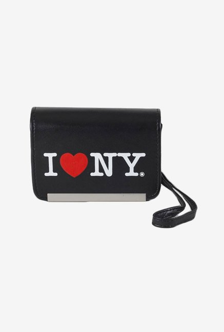 I Love NY ILNDCS86K Compact Leather Camera Case (Black)