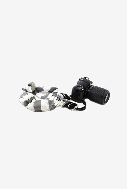 Capturing Couture SCARF-STGY Camera Strap (Grey & White)