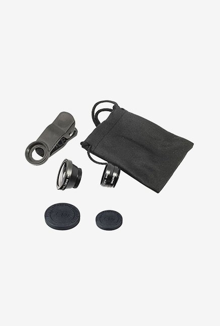 TLTSHOPS Universal 3-In-1 Lens Clip Camera Photo Kit (Black)