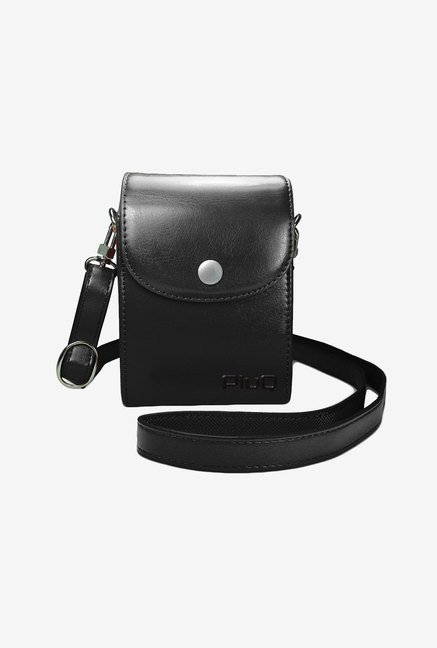 PiuQ Premium Leather Protective Compact Case (Black)