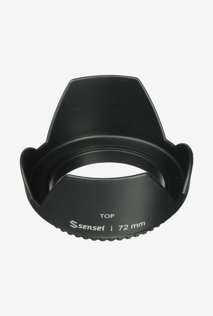 Sensei LHSC72 72mm Screw-On Tulip Lens Hood (Black)