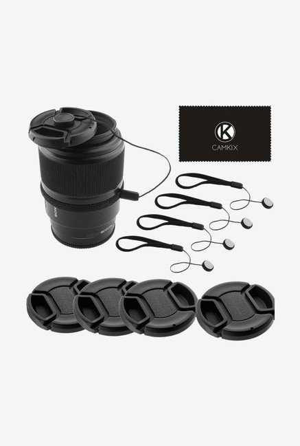 Lens Cap W74YU Universal Camera Lens Bundle (Black)