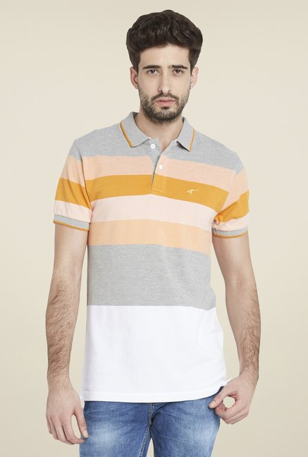 Globus Multicolor Trendy Striped Short Sleeve T Shirt