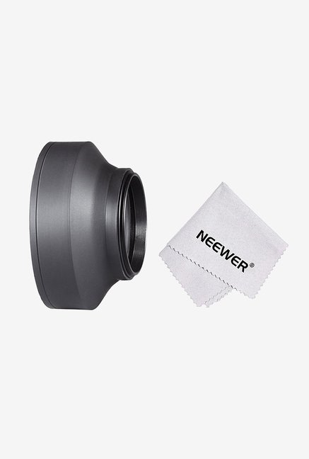 Neewer 10083953 49mm Collapsible Rubber Lens Hood (Black)
