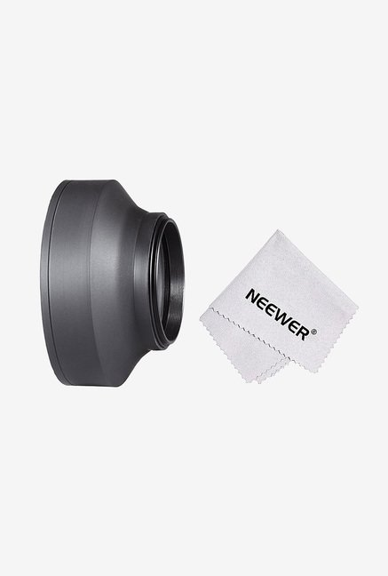 Neewer 10083961 77mm Collapsible Rubber Lens Hood (Black)