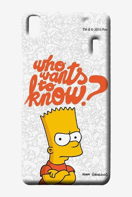 Simpsons Who Wants To Know Case for Lenovo K3 Note