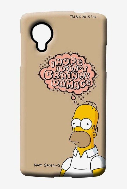 Simpsons Brain Humour Case for LG Nexus 5