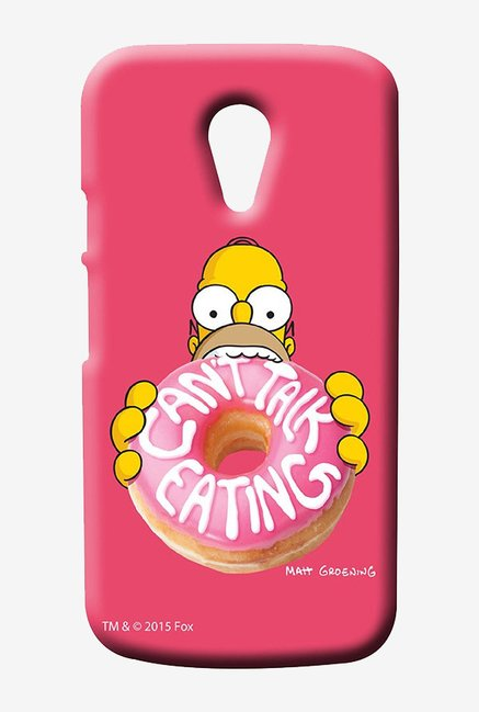 Simpsons Cant Talk Eating Pink Case for Moto G2