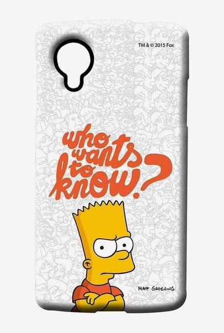 Simpsons Who Wants To Know Case for LG Nexus 5