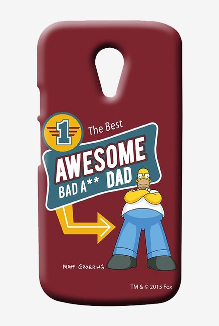Simpsons Awesome Dad Case for Moto G2