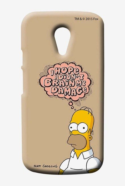 Simpsons Brain Humour Case for Moto G2