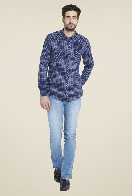 Globus Blue Checks Shirt