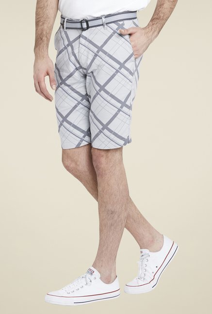 Globus Grey Checks Shorts