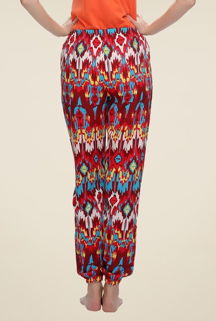Clovia Red Printed Pyjamas