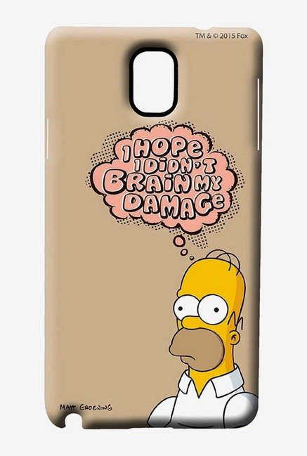 Simpsons Brain Humour Case for Samsung Note 3